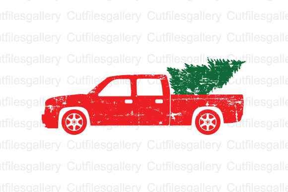 Download Free Distressed Christmas Truck Svg Graphic By Cutfilesgallery SVG Cut Files