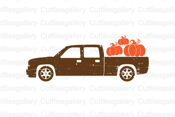 Download Free Distressed Pumpkin Truck Svg Graphic By Cutfilesgallery SVG Cut Files