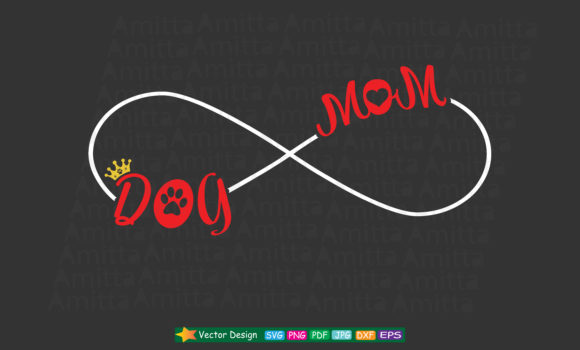 Download Free Dog Mom Cut File Graphic By Amitta Creative Fabrica for Cricut Explore, Silhouette and other cutting machines.