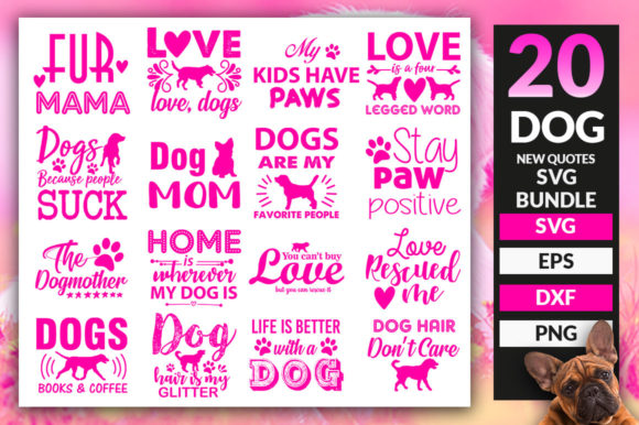 Print on Demand: Dog SVG Bundle Graphic Crafts By DesignFarm - Image 1