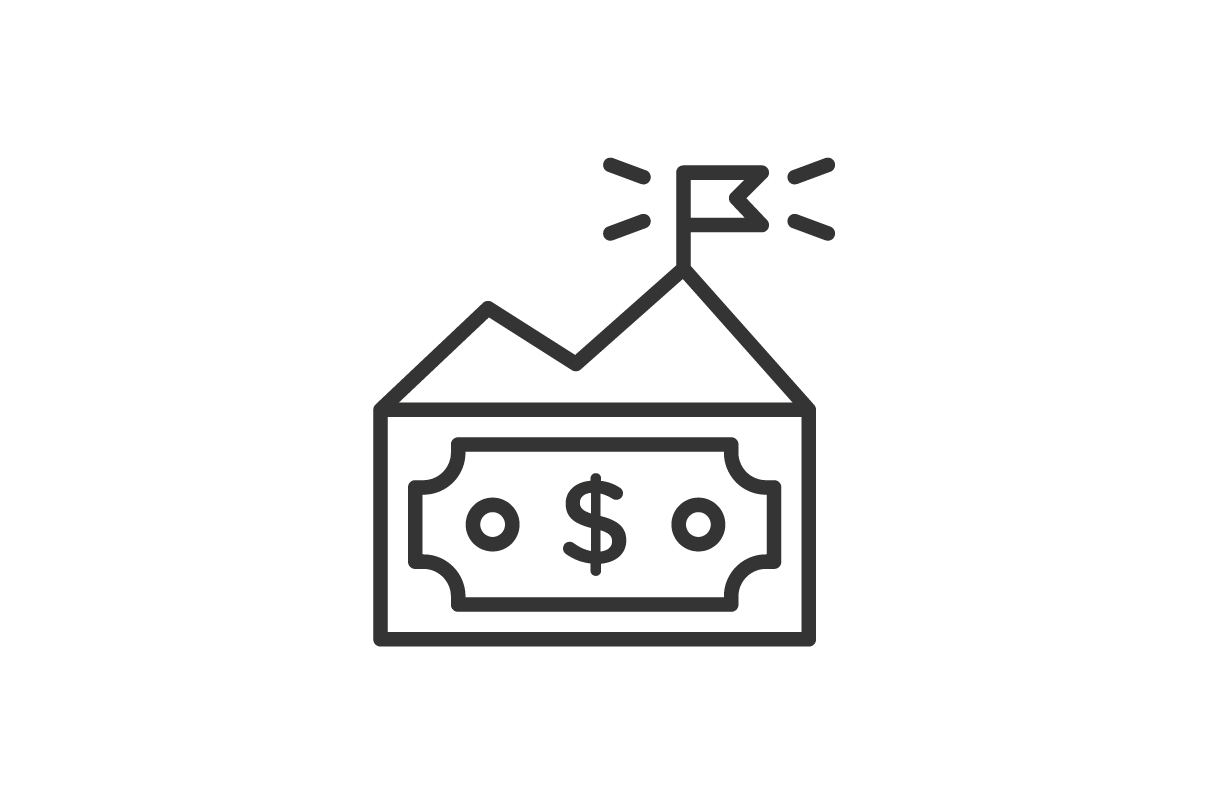 Download Free Dollar Icon Graphic By Rudezstudio Creative Fabrica for Cricut Explore, Silhouette and other cutting machines.