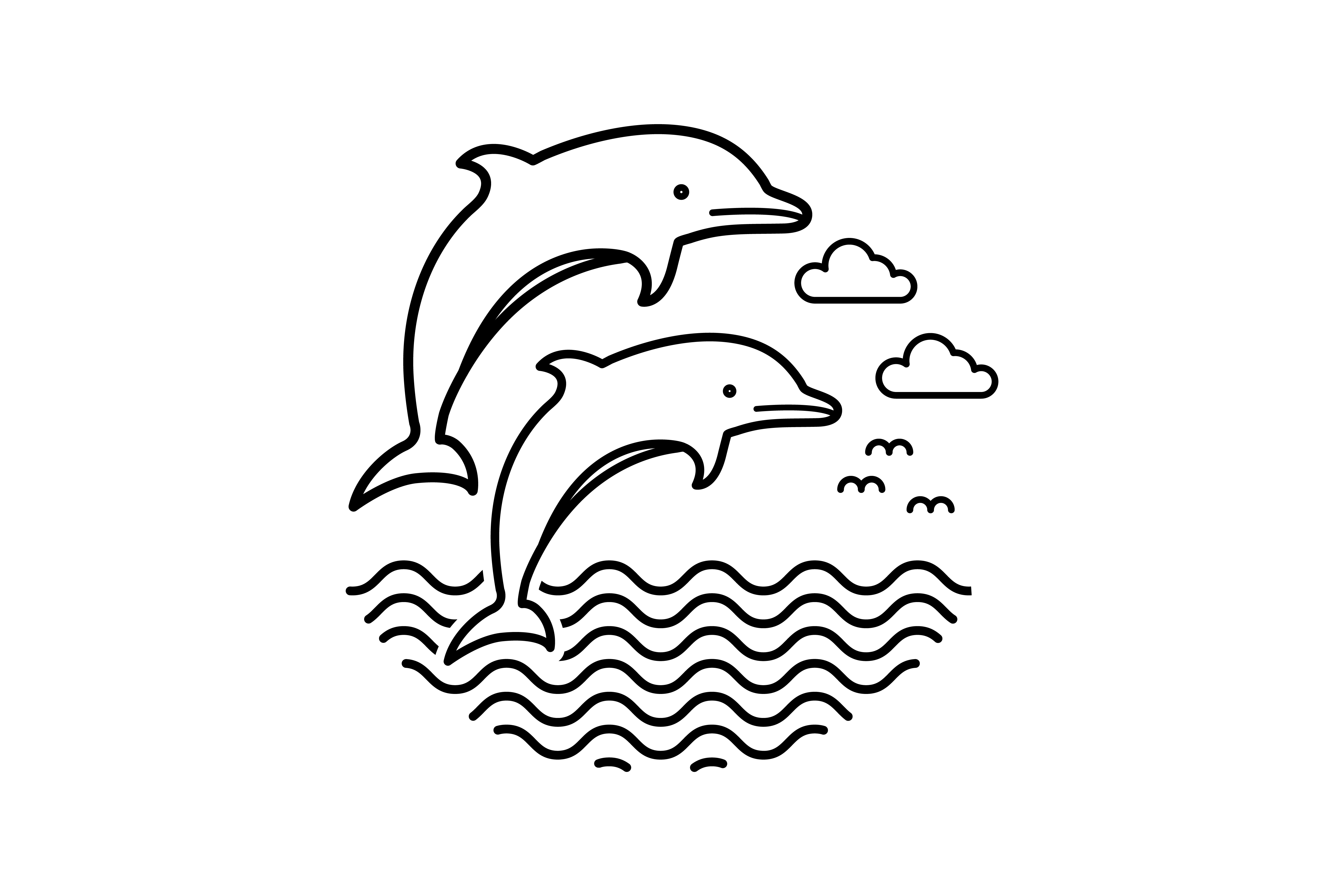 Download Free Dolphin Design Vector Graphic By Sabavector Creative Fabrica for Cricut Explore, Silhouette and other cutting machines.