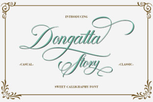 Dongatta Story Font By Natural Ink
