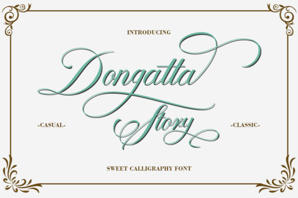 Dongatta Story Font By Natural Ink Image 1