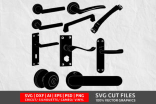 Door Handle SVG Graphic By Design Palace