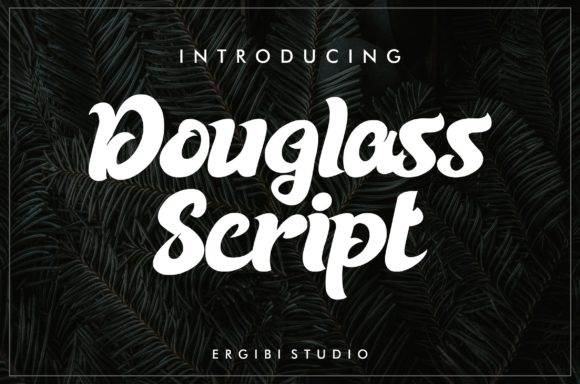 Print on Demand: Douglass Script Script & Handwritten Font By ergibi studio