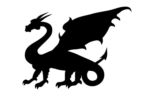 Download Free Dragon Silhouette In Profile Svg Cut File By Creative Fabrica for Cricut Explore, Silhouette and other cutting machines.
