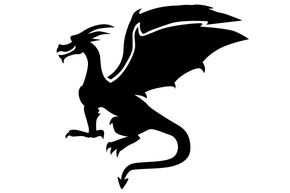 Download Free Dragon Silhouette Just Sitting Svg Cut File By Creative Fabrica for Cricut Explore, Silhouette and other cutting machines.
