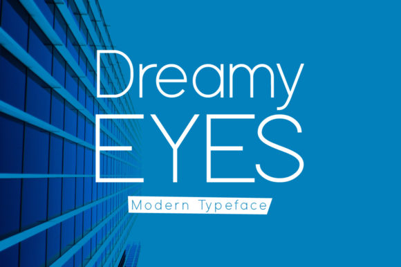 Print on Demand: Dreamy Eyes Display Font By Spanking Fonts