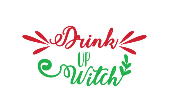 Download Free Drink Up Witch Svg Cut Graphic By Thelucky Creative Fabrica for Cricut Explore, Silhouette and other cutting machines.