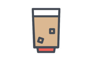 Download Free Creamy Drink With Ice Cubes Icon Graphic By Rudezstudio for Cricut Explore, Silhouette and other cutting machines.