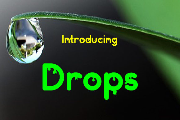 Print on Demand: Drops Display Font By da_only_aan