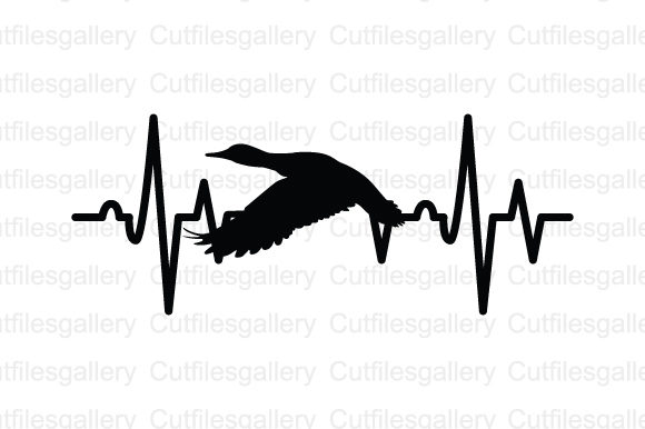 Download Free Duck Heartbeat Graphic By Cutfilesgallery Creative Fabrica for Cricut Explore, Silhouette and other cutting machines.