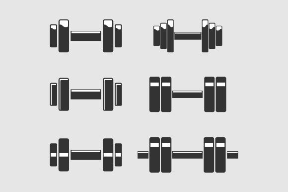 Download Free Dumbbells Sports Vector Illustration Graphic By Hartgraphic for Cricut Explore, Silhouette and other cutting machines.