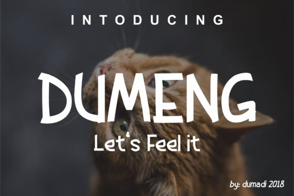 Print on Demand: Dumeng Display Font By DUMADI
