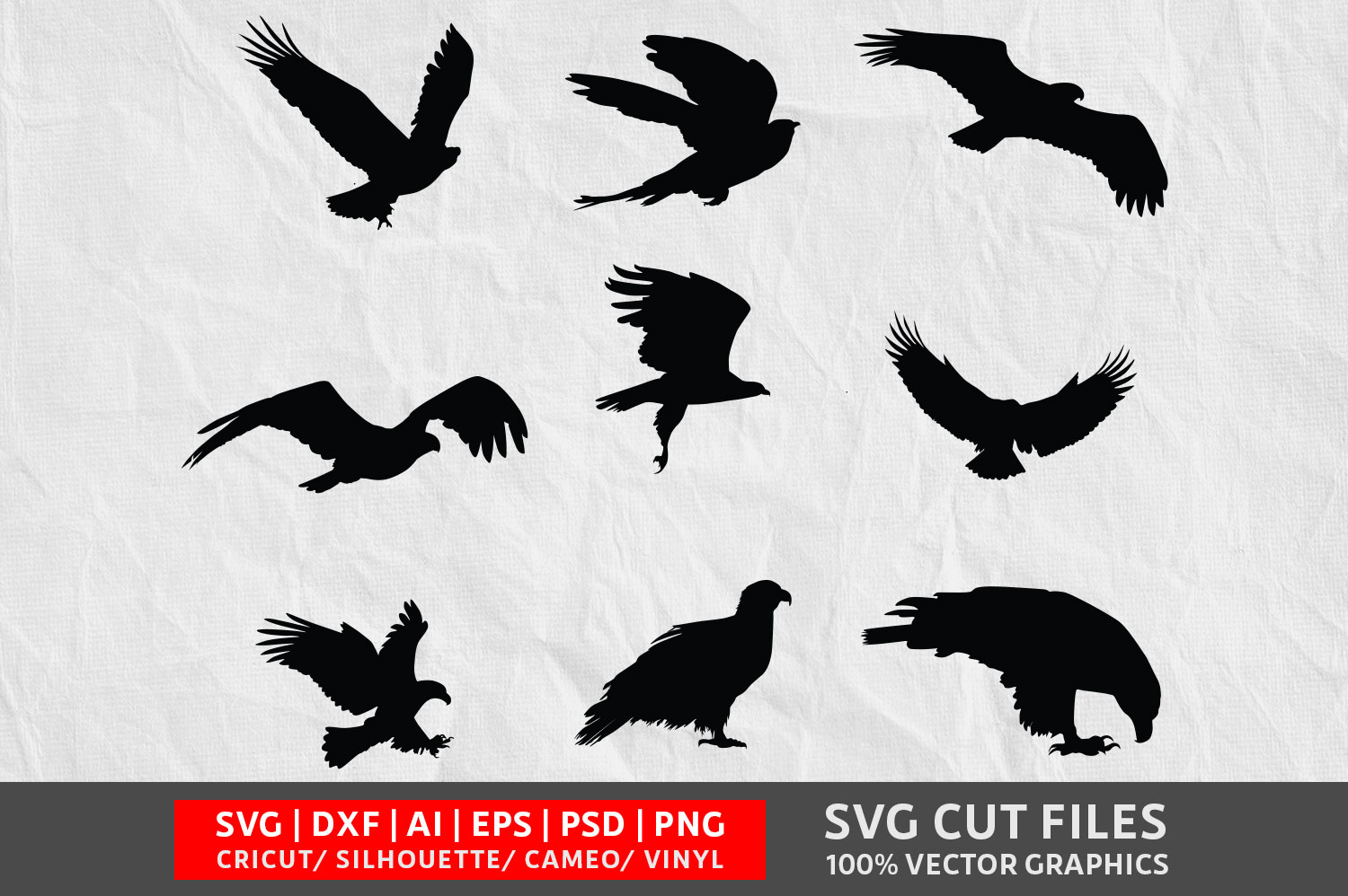 Download Free Eagle Vol 1 Svg Graphic By Design Palace Creative Fabrica for Cricut Explore, Silhouette and other cutting machines.