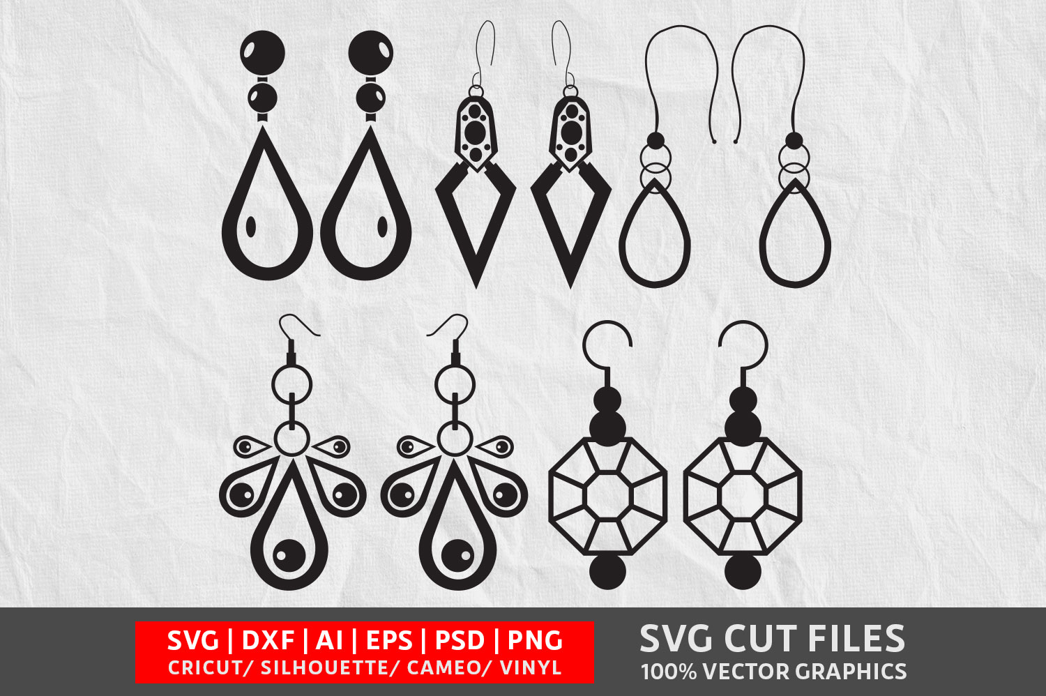 Download Free Earrings Graphic By Design Palace Creative Fabrica SVG Cut Files