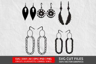 Earrings Vol 3 SVG Graphic By Design Palace