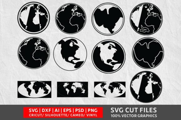 Download Free Earth Graphic By Design Palace Creative Fabrica for Cricut Explore, Silhouette and other cutting machines.