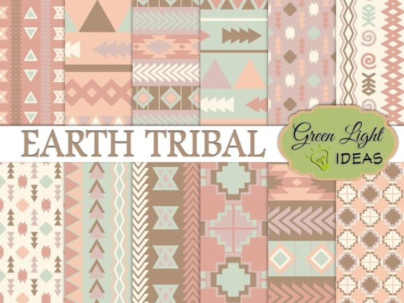 Earth Tribal Backgrounds Graphic Backgrounds By GreenLightIdeas