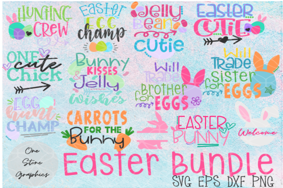 Easter Quote Bundle Graphic Crafts By OneStoneGraphics - Image 1