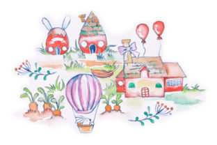 Easter Village Easter Craft Cut File By Creative Fabrica Crafts
