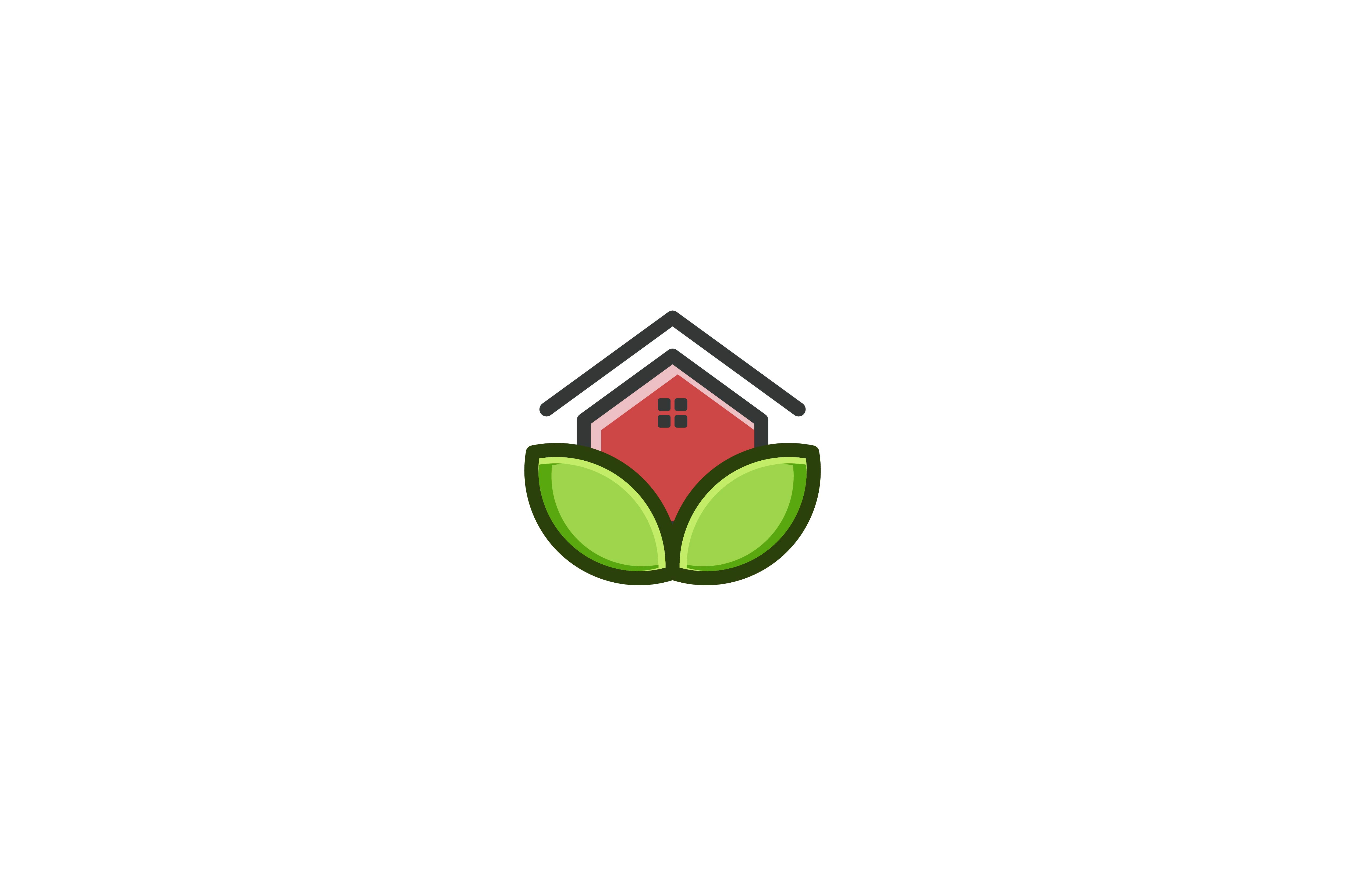 Download Free Eco House Eco Home Logo Design Graphic By Yahyaanasatokillah for Cricut Explore, Silhouette and other cutting machines.