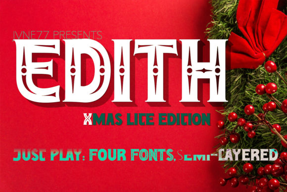 Print on Demand: Edith Family Serif Font By Jvne77