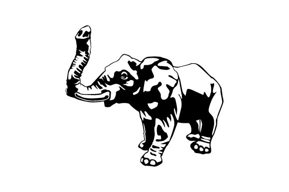 Download Free Elephant Vector Illustration Graphic By Hartgraphic Creative for Cricut Explore, Silhouette and other cutting machines.