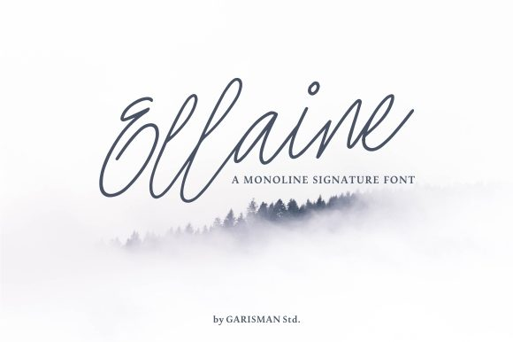Print on Demand: Ellaine Script & Handwritten Font By Garisman Studio