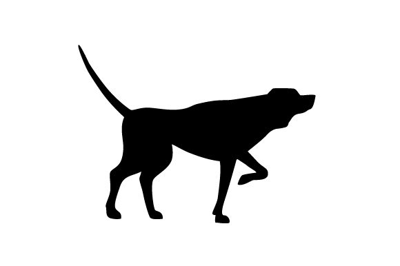 Download Free English Pointer With Tail Straight Up In The Air Silhouette Svg for Cricut Explore, Silhouette and other cutting machines.