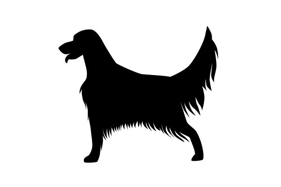 Download Free English Setter With Tail Straight Up In The Air Silhouette Svg for Cricut Explore, Silhouette and other cutting machines.