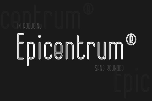 Print on Demand: Epicentrum Display Font By 38.lineart