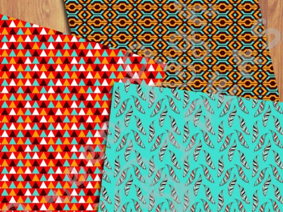 Ethnic Boho Digital Papers Graphic Patterns By GreenLightIdeas - Image 4