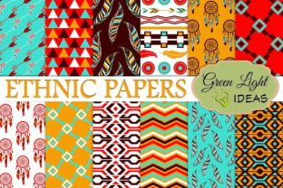 Ethnic Boho Digital Papers Graphic By GreenLightIdeas
