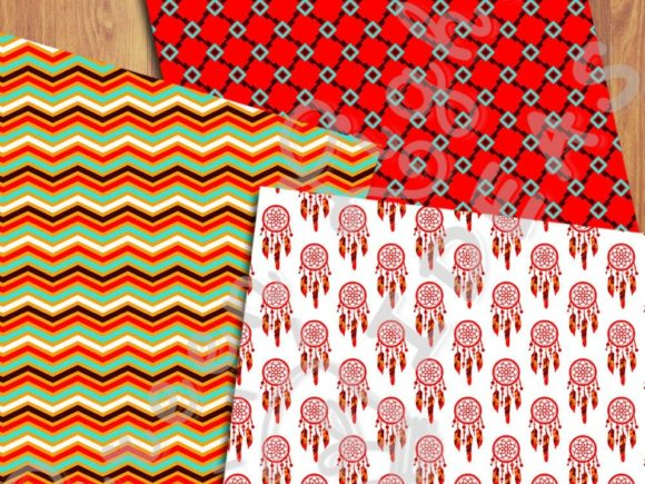 Ethnic Boho Digital Papers Graphic Patterns By GreenLightIdeas - Image 5
