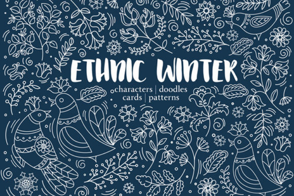 Print on Demand: Ethnic Winter Pack Gráfico Ilustraciones Por FARAWAYKINGDOM