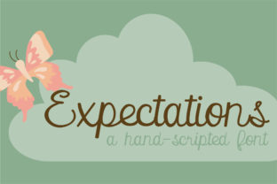 Print on Demand: Expectations Script & Handwritten Font By Illustration Ink 1