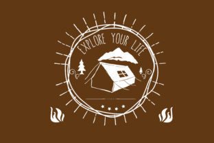 Download Free Explore Your Life Adventure Quote Graphic By Baraeiji for Cricut Explore, Silhouette and other cutting machines.