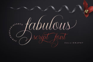 Fabulous Script Script & Handwritten Font By Stripes Studio