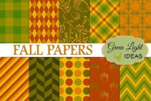 Fall Autumn Patterns Graphic By GreenLightIdeas
