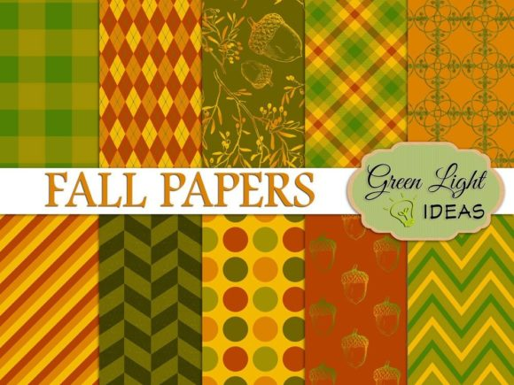 Fall Autumn Patterns Graphic Patterns By GreenLightIdeas
