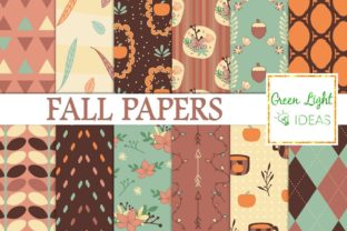 Fall Pumpkin Digital Papers Graphic By GreenLightIdeas