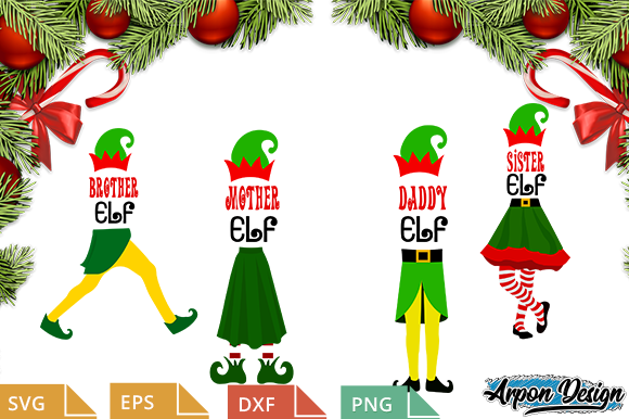 Download Free Family Elf Graphic By Arpondesign Creative Fabrica for Cricut Explore, Silhouette and other cutting machines.