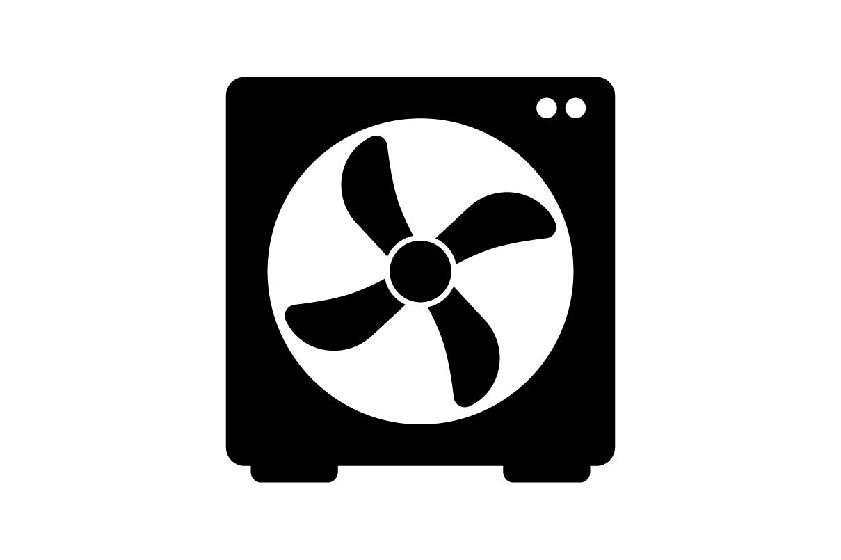 Download Free Fan Monochrome Icon Vector Graphic By Hoeda80 Creative Fabrica for Cricut Explore, Silhouette and other cutting machines.