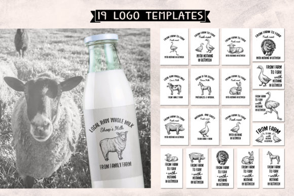 Farm Animals Collection Graphic Objects By ilonitta.r - Image 10