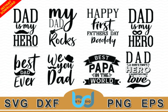 7a04aad3 Father Day Svg Bundle - Graphics. This is a print/cut file compatible with  Cricut and Silhouette ...