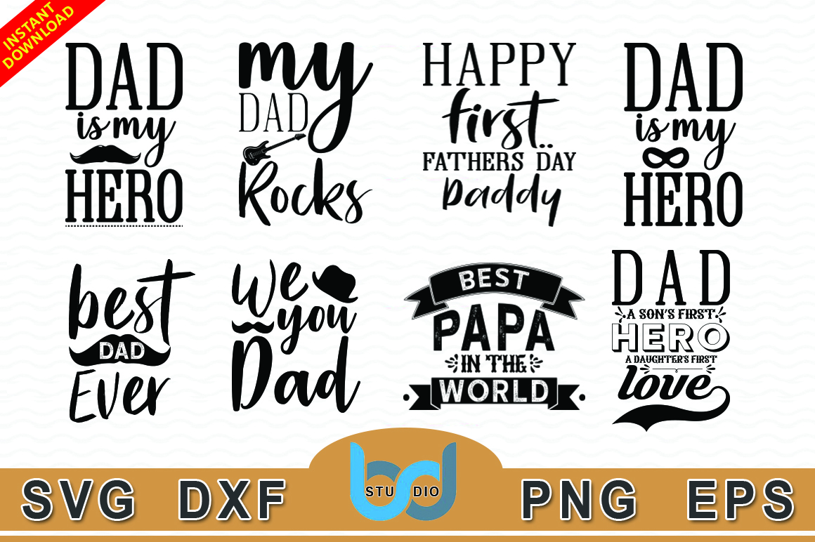 Download Free Father Day Bundle Graphic By Artistcreativedesign Creative Fabrica for Cricut Explore, Silhouette and other cutting machines.