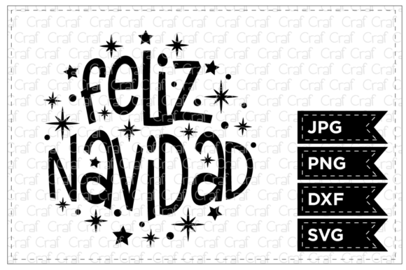 Print on Demand: Feliz Navidad Quote Graphic Crafts By Craf Craf