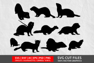 Download Free Ferret Graphic By Design Palace Creative Fabrica for Cricut Explore, Silhouette and other cutting machines.